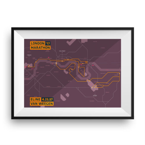 Print London marathon Clean Brown