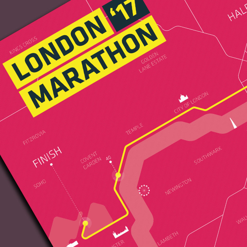 Print London marathon Clean Pink