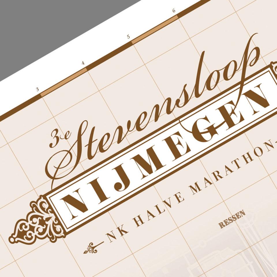Print Stevensloop Nijmegen 2017 Classic Brown