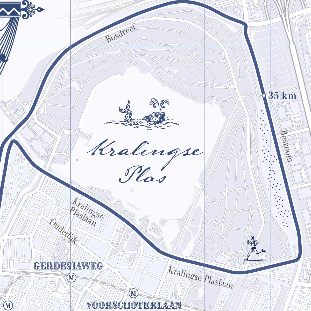 Print marathon Rotterdam Classic Blue