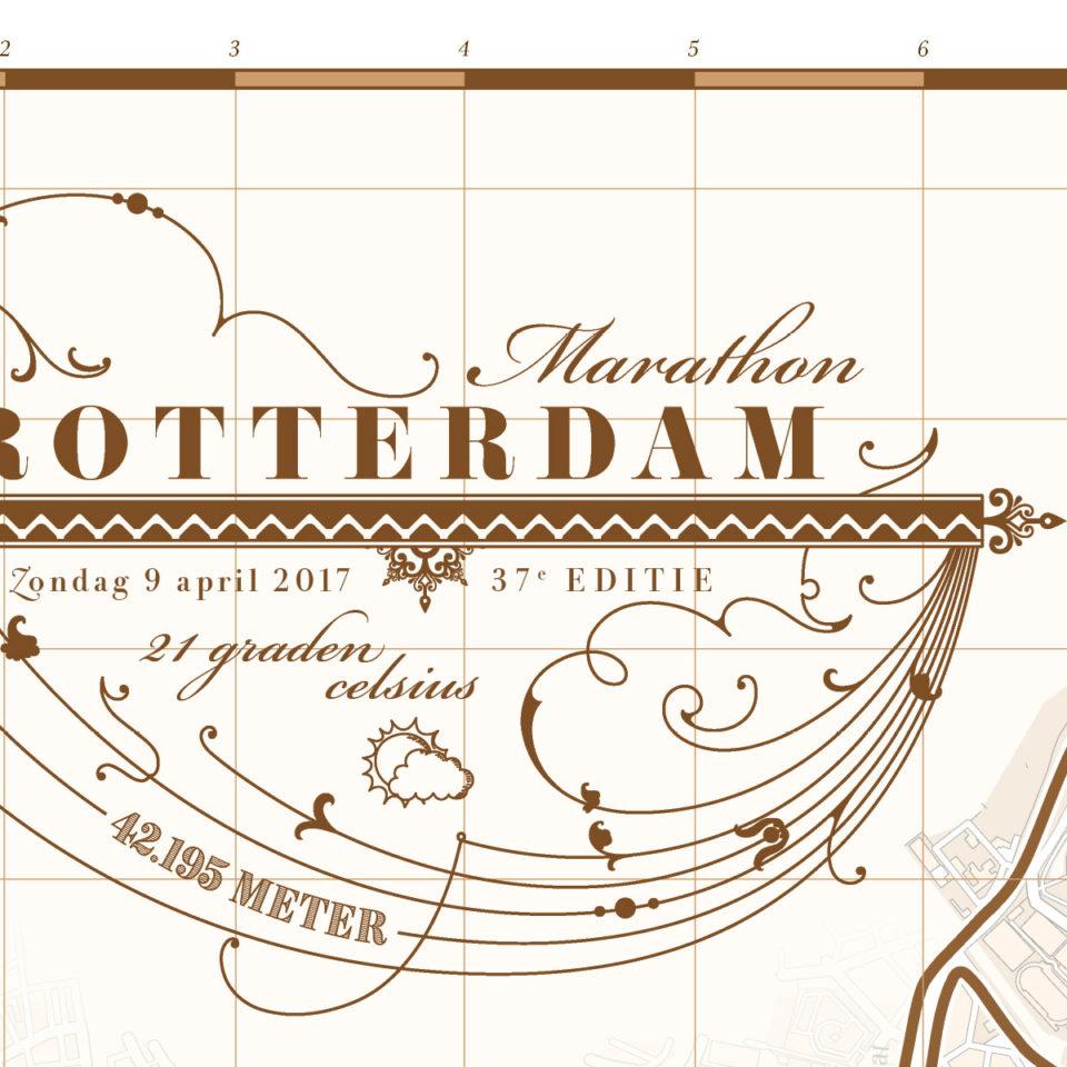 Print marathon Rotterdam Classic Brown