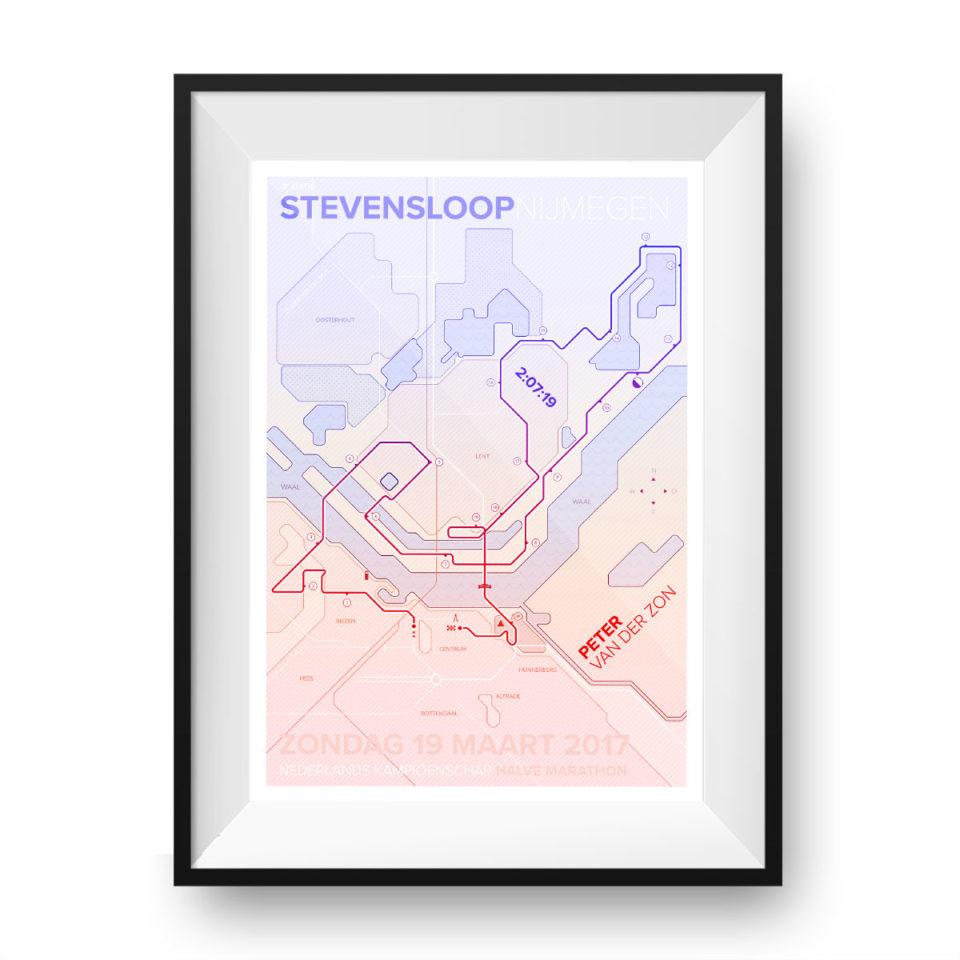 Print Stevensloop Nijmegen Clean Light