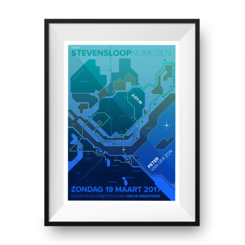 Print Stevensloop Nijmegen Clean Dark