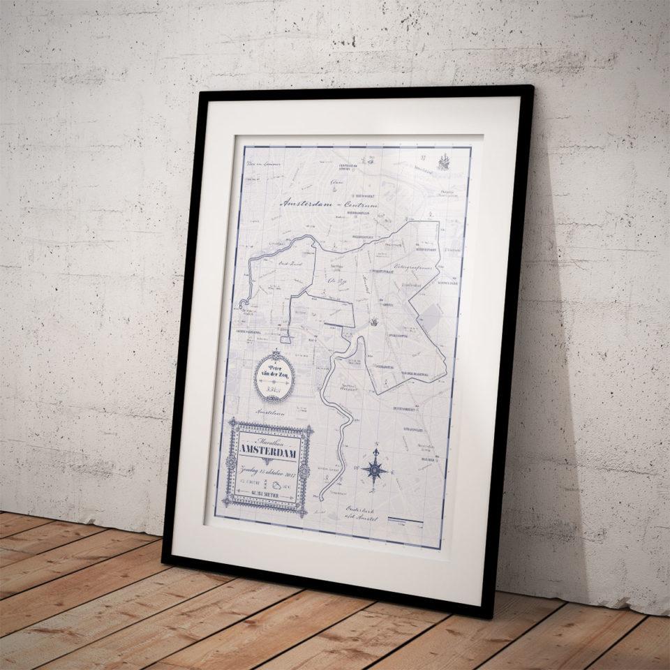 Print Amsterdam Marathon Classic Blue – Print my run