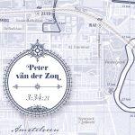 Print Amsterdam Marathon Classic Blue - Print my run