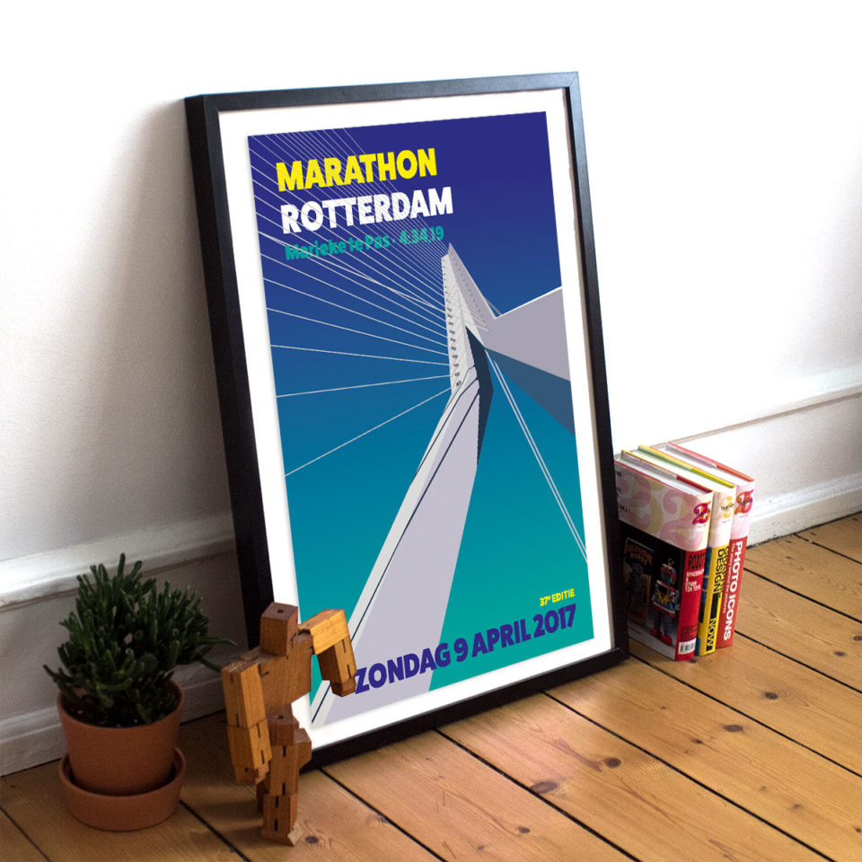 Special print Marathon Rotterdam – Erasmusbrug