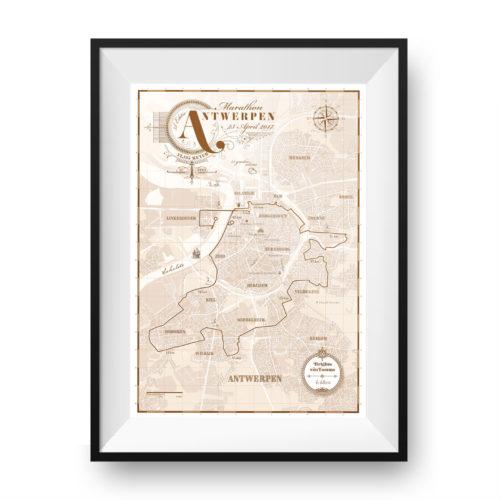Antwerpen Marathon print - print my run
