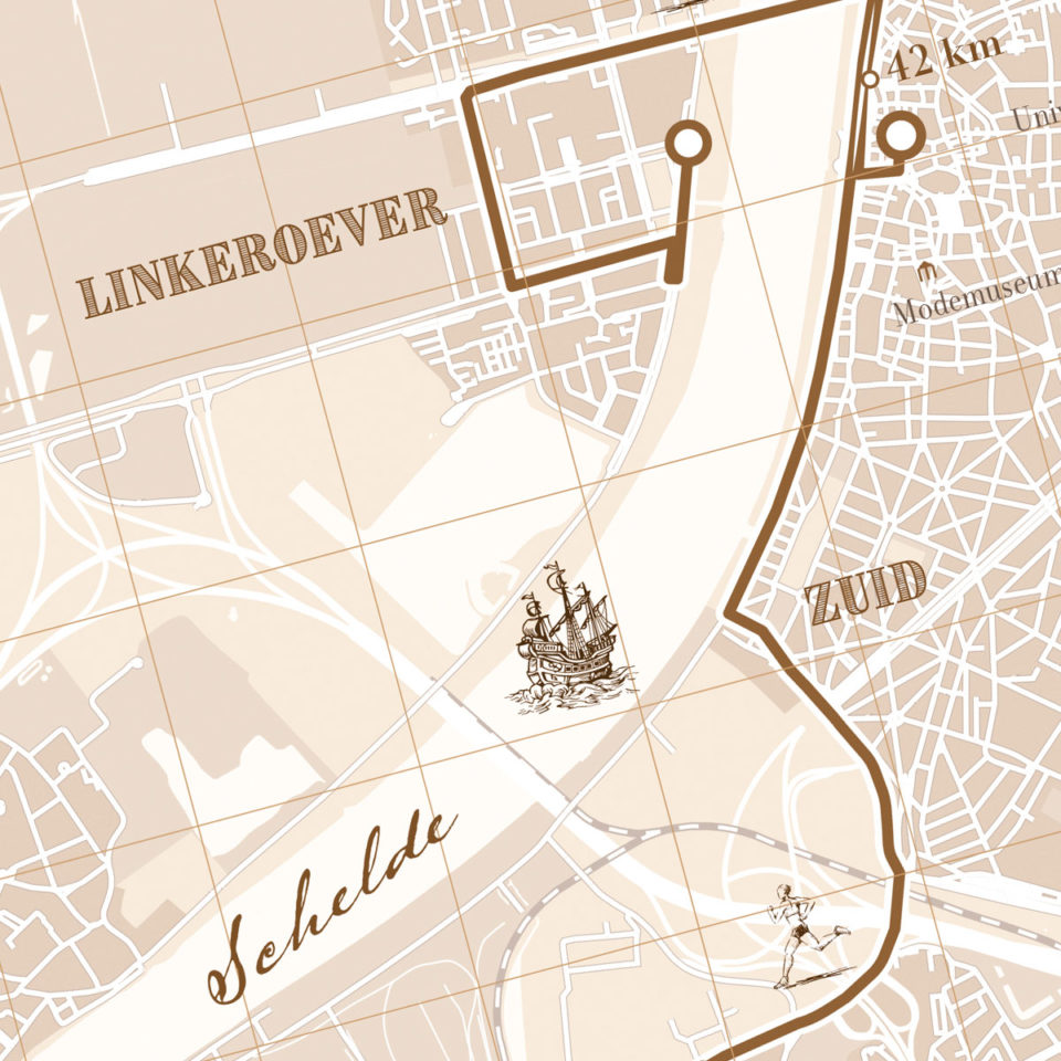 Antwerpen Marathon print – print my run