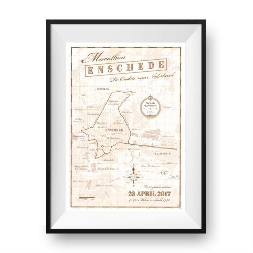 Enschede Marathon print - print my run