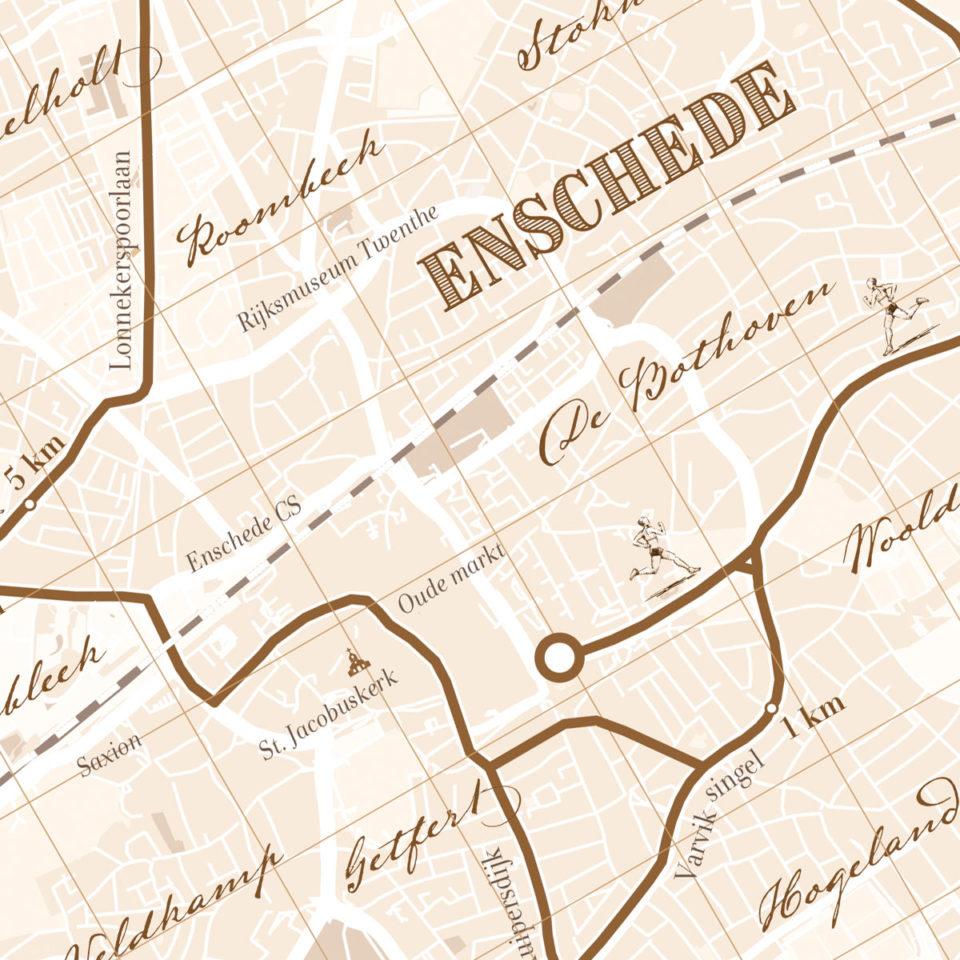 Enschede Marathon print – print my run