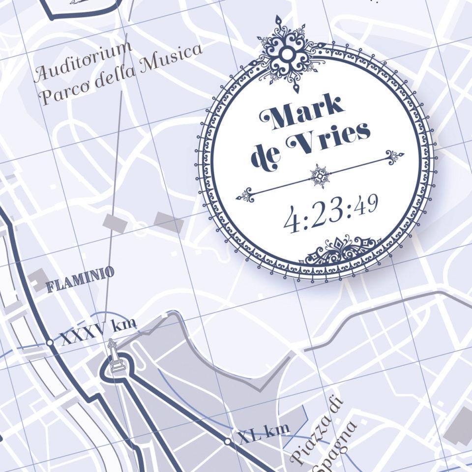 Rome Marathon print – Print my run