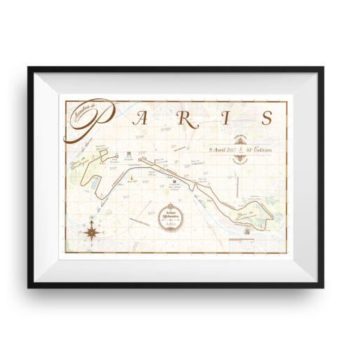 Parijs Marathon print - print my run