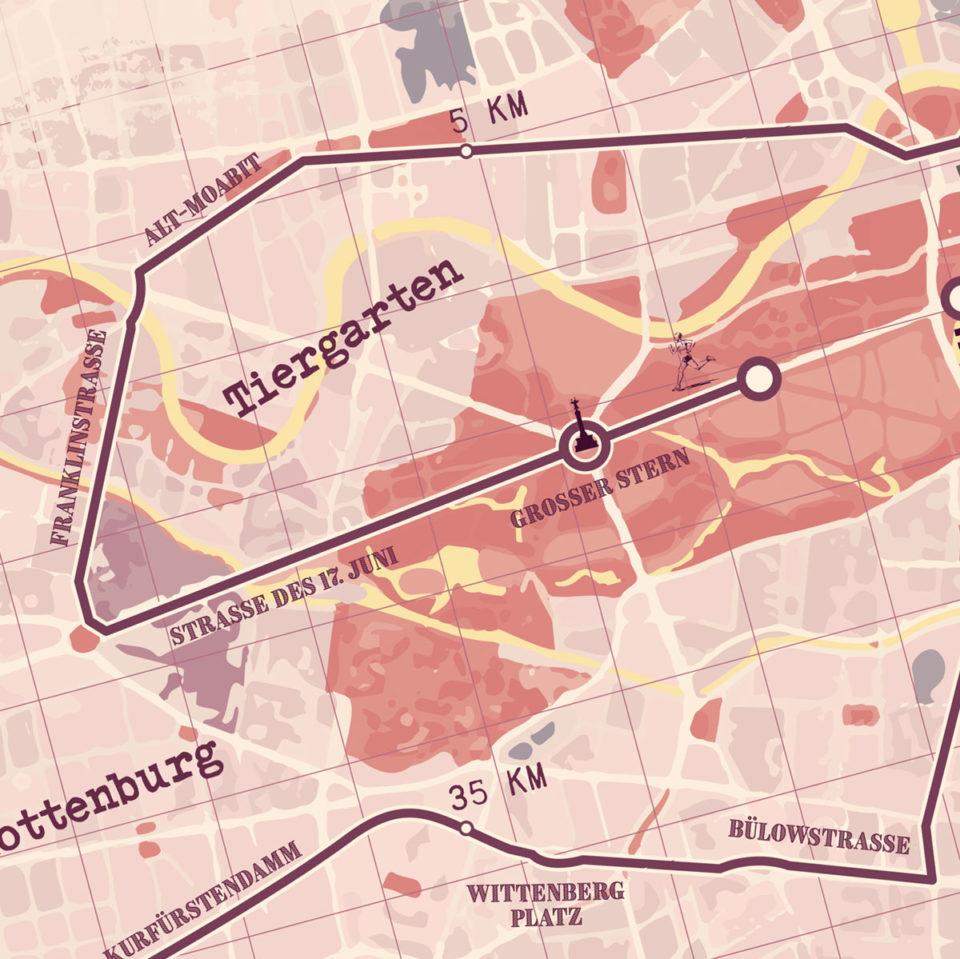 Berlijn Marathon Red – Print my run