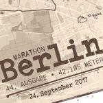 Berlijn Marathon Sepia - Print my run