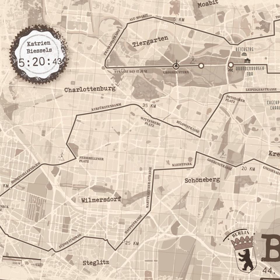Berlijn Marathon Sepia – Print my run