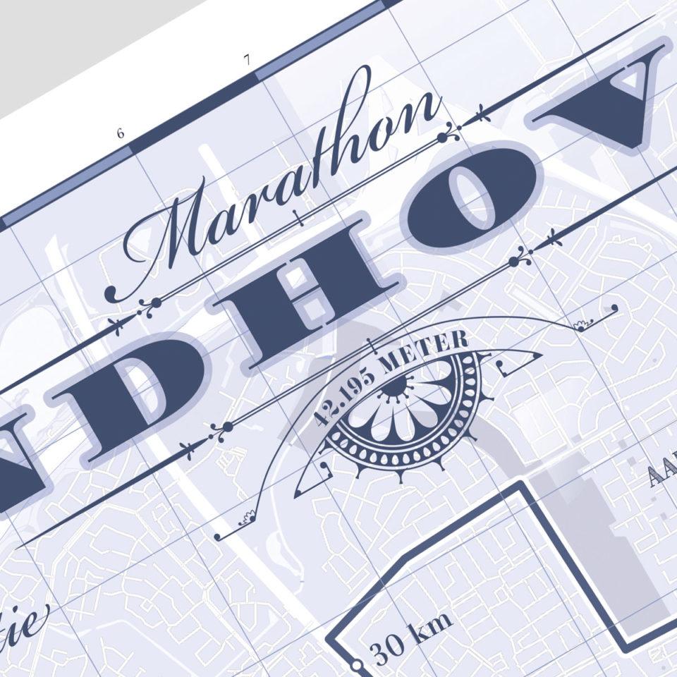 Eindhoven marathon classic blue – print my run