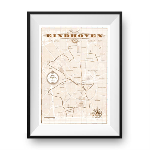 Eindhoven Marathon classic brown - print my run
