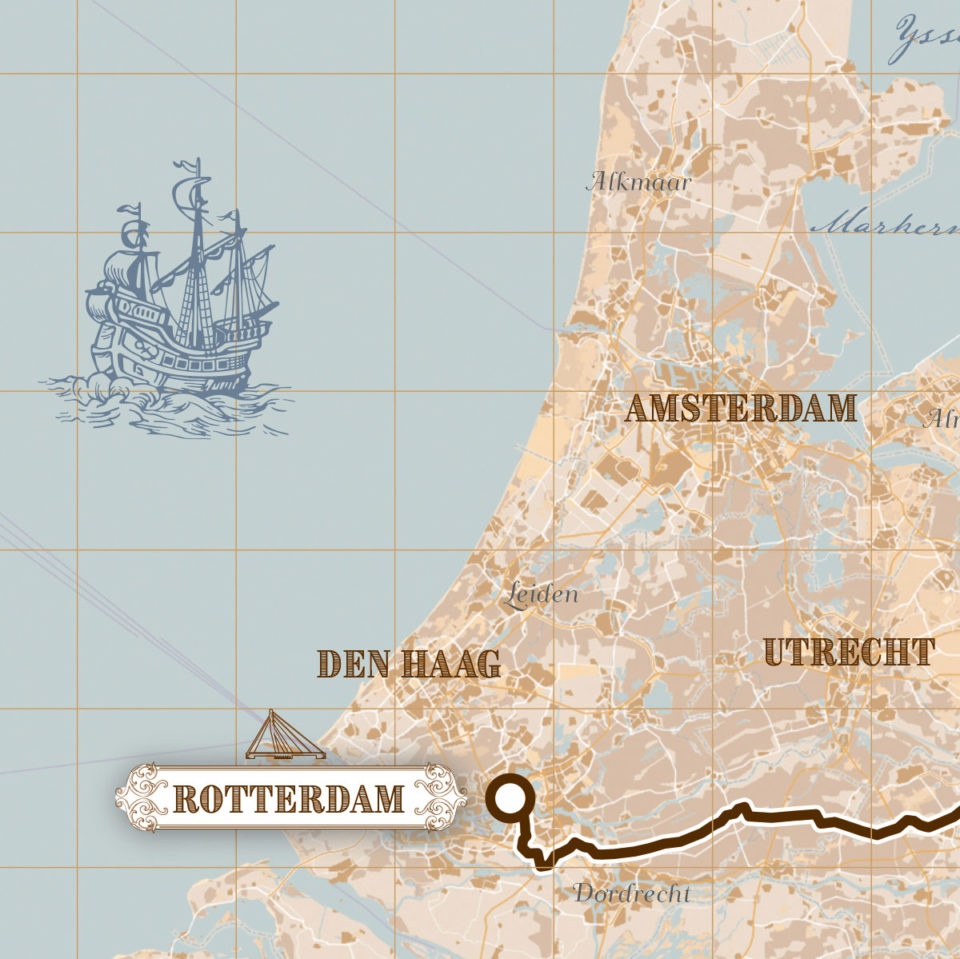 Roparun Hamburg – Rotterdam print – print my run