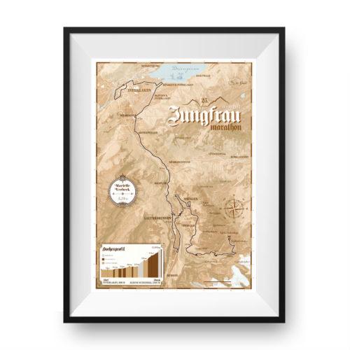 Jungfrau Marathon print - print my run