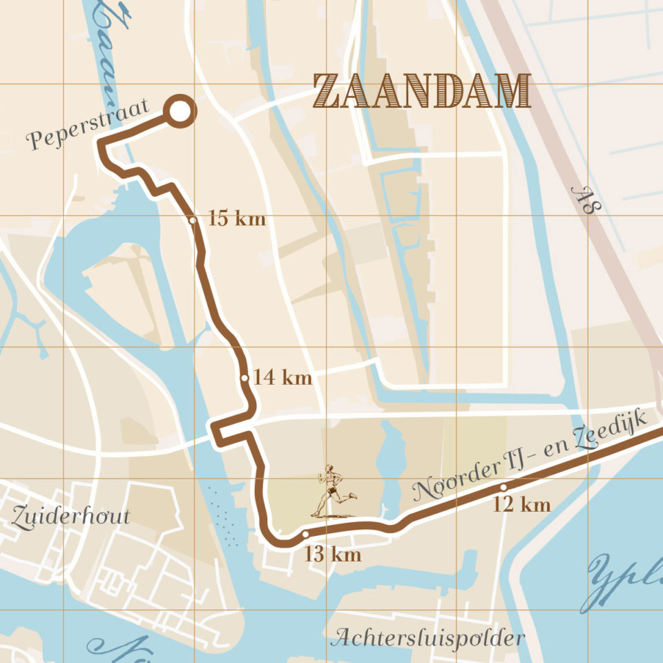 Dam tot Damloop print – Print my run