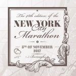 Print New York City Marathon Grey - Printmyrun