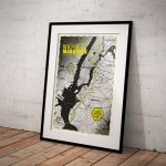 Print New York City Marathon black-yellow - Printmyrun