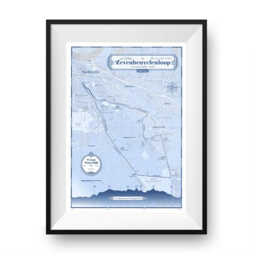 Zevenheuvelenloop print Classic Blue - Printmyrun