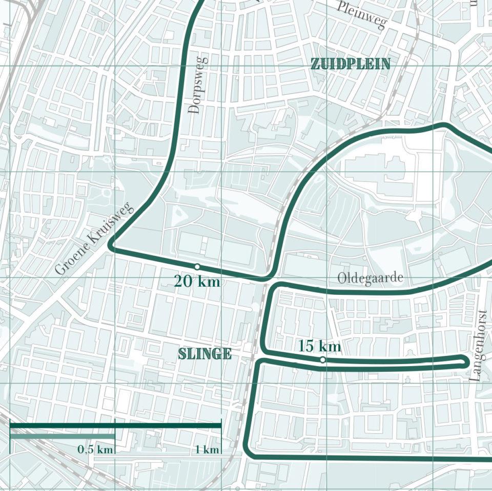 Rotterdam marathon classic green print