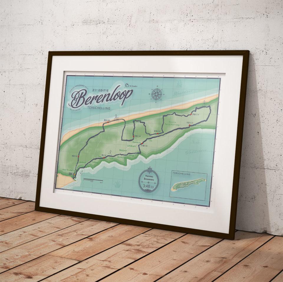 Berenloop Terschelling print printmyrun